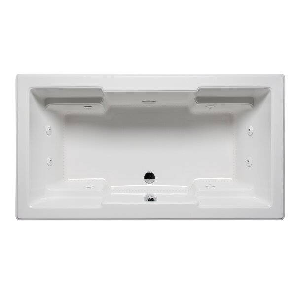 Quantum 72 x 36 Drop in Whirlpool Bathtub by Americh