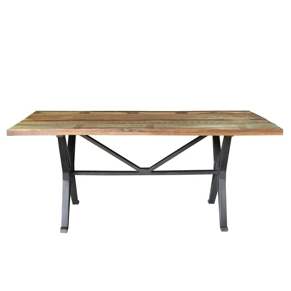 Pascoe Old Top Cross Dining Table by Gracie Oaks