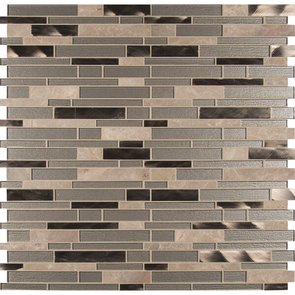 Champagne Toast Interlocking Pattern 4mm Glass/Stone Mosaic Tile in Brown by MSI