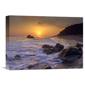 Nature Photographs Sunset Over Leo Carillo State Beach, Malibu, California by Tim Fitzharris Photographic Print on Wr... by Global Gallery