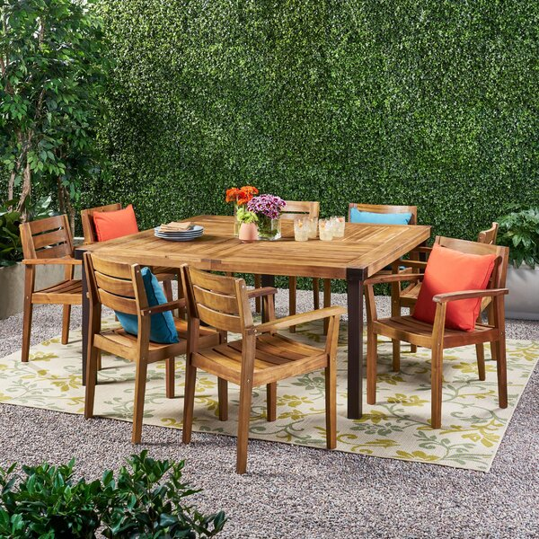 Warwick Outdoor 9 Piece Dining Set by Millwood Pines