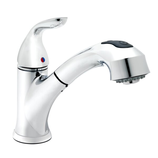 Essential Pull Out Single Handle Kitchen Faucet by Keeney Manufacturing Company
