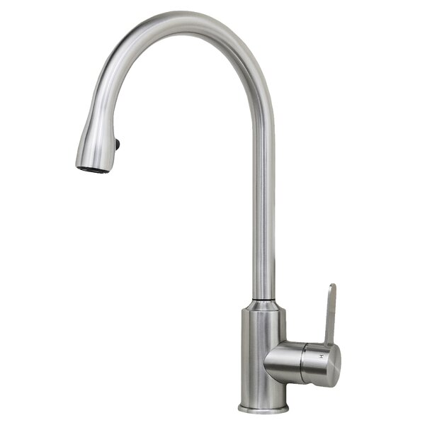 Cario Pull Down Single Handle Kitchen Faucet by Wells Sinkware