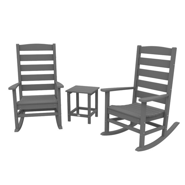 Polywood® Traditional Porch 3 Piece Seating Group by Sol 72 Outdoor