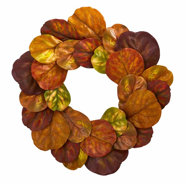 Fiddle Leaf Artificial 29 Polyester Wreath by August Grove