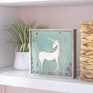 Georgina 'Unicorn & Friend' by Creative Thursday by Marisa Framed Painting Print on Canvas by Viv + Rae