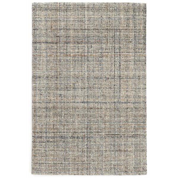 Harris Micro Hand-Hooked Wool Gray/Blue/Black Area Rug by Dash and Albert Rugs