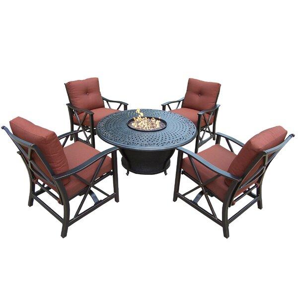 Zoraida 6 Piece Conversation Set with Cushions by Charlton Home