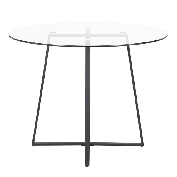 April Contemporary/Glam Dining Table by Everly Quinn