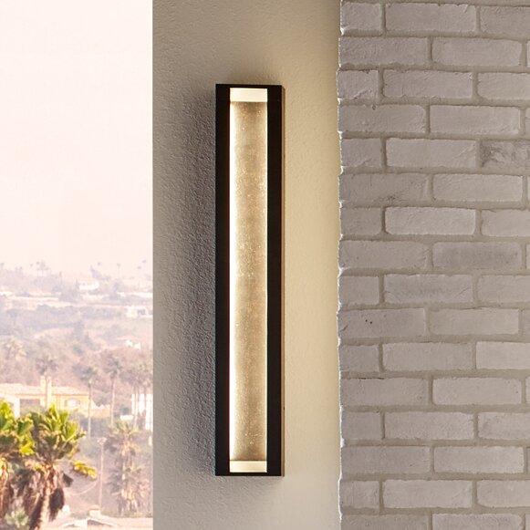 Mattix 2-Light LED Outdoor Sconce by Feiss