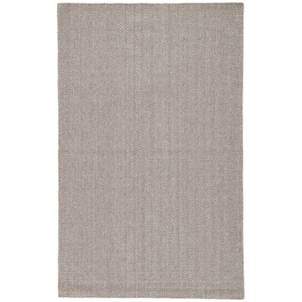 Criss Hand-Woven Brushed Nickel/Walnut Area Rug by Rosecliff Heights