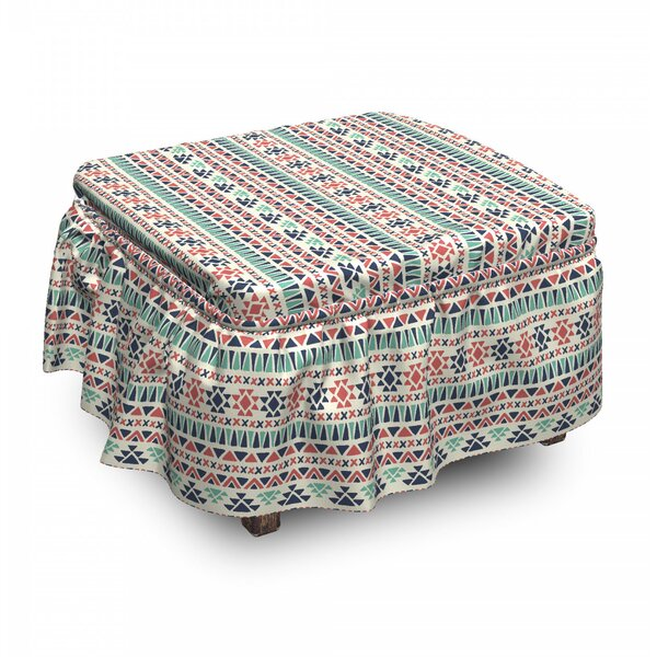 Cultural Geometric Ottoman Slipcover (Set Of 2) By East Urban Home