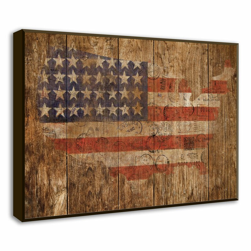 Fancy American Flag Framed Component - Framed Art Ideas ...