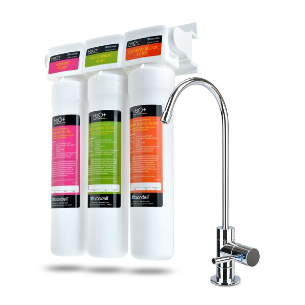 H2O+ Coral Three-Stage Undercounter Water Filter System by Brondell