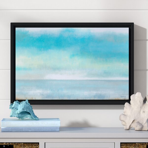 Calming Seas Framed Painting Print on Wrapped Canvas by Beachcrest Home