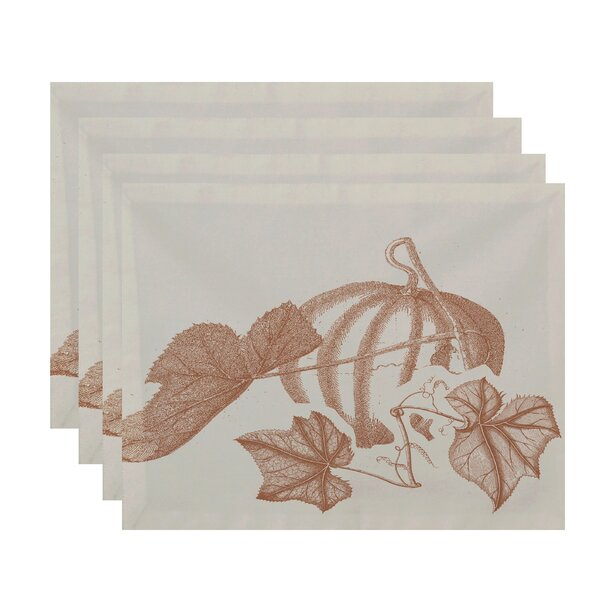 Flipping for Fall Stagecoach Print Placemat (Set of 4) by e by design