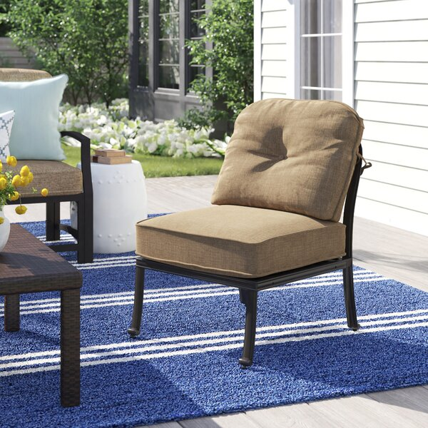 Lebanon Deep Seating Center Sectional Piece Frame Patio Chair by Three Posts