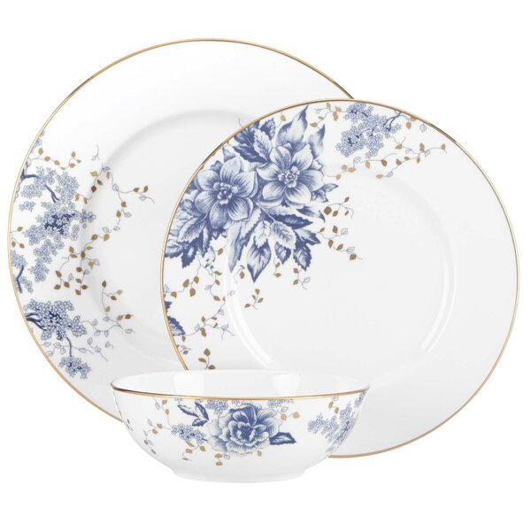 Garden Grove Bone China 3 Piece Place Setting, Service for 1 by Lenox