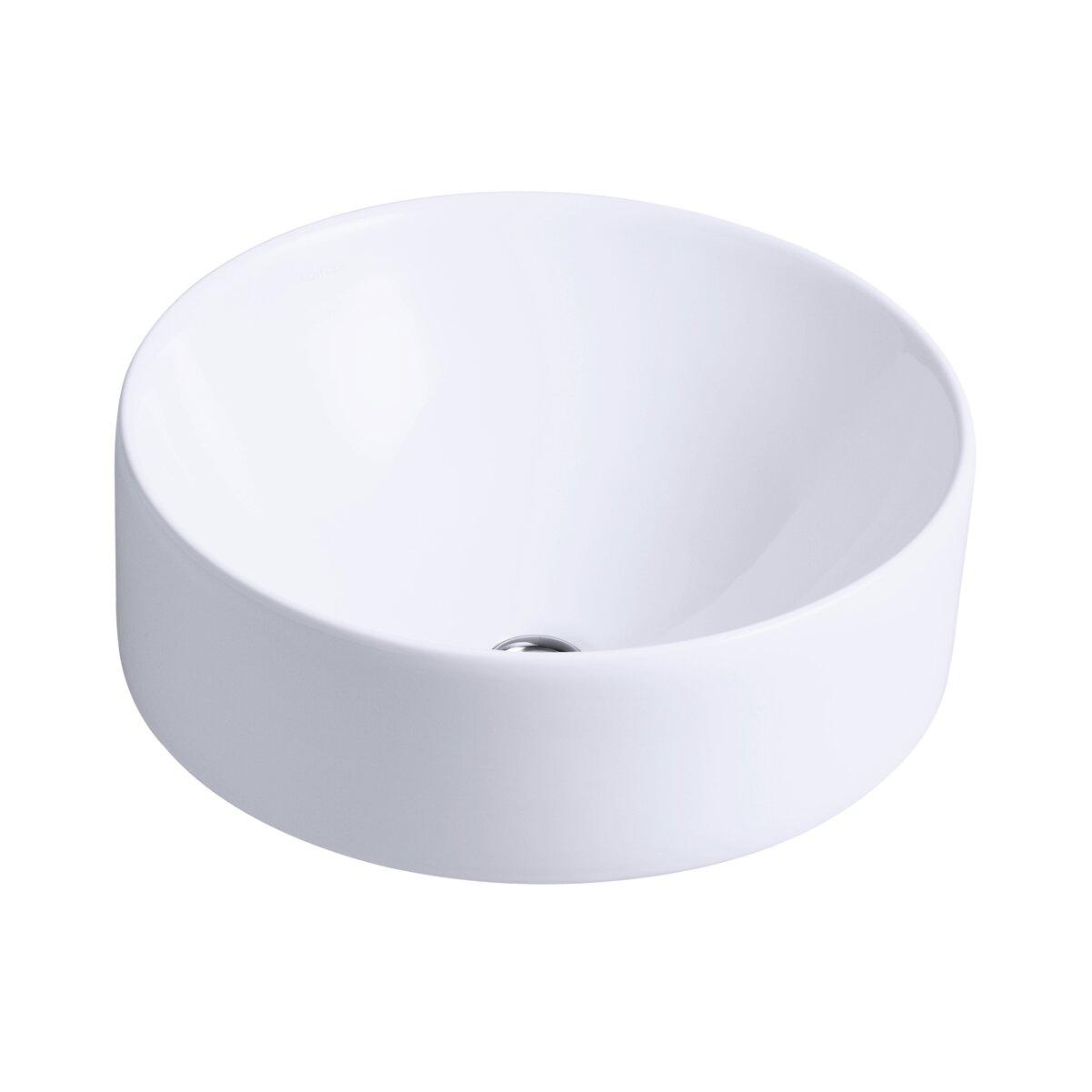 K 14800 0,47,7 Kohler Vox Ceramic Circular Vessel Bathroom Sink With  Overflow U0026 Reviews | Wayfair