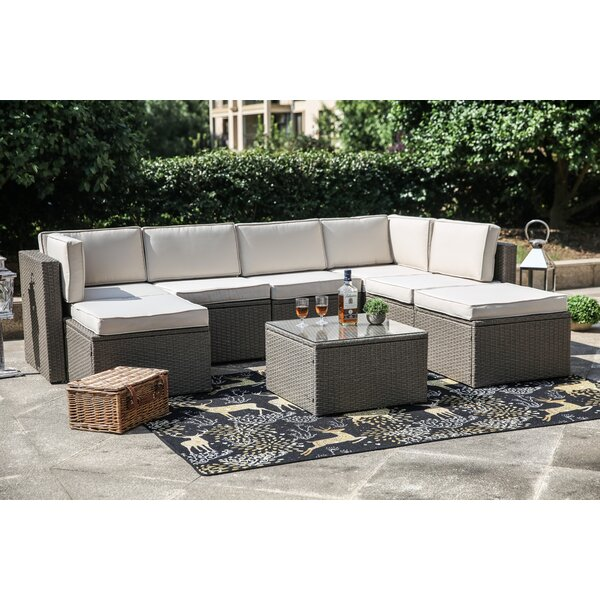 Worksop 8 Piece Sectional Seating Group Set with Cushions by Sol 72 Outdoor