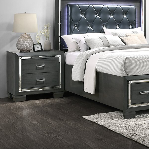 Anthea 2 Drawer Nightstand by House of Hampton