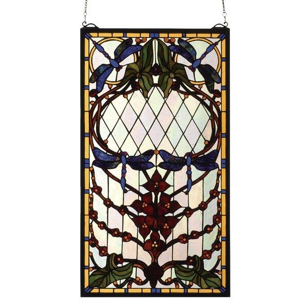 Dragonfly Allure Stained Glass Window by Meyda Tiffany
