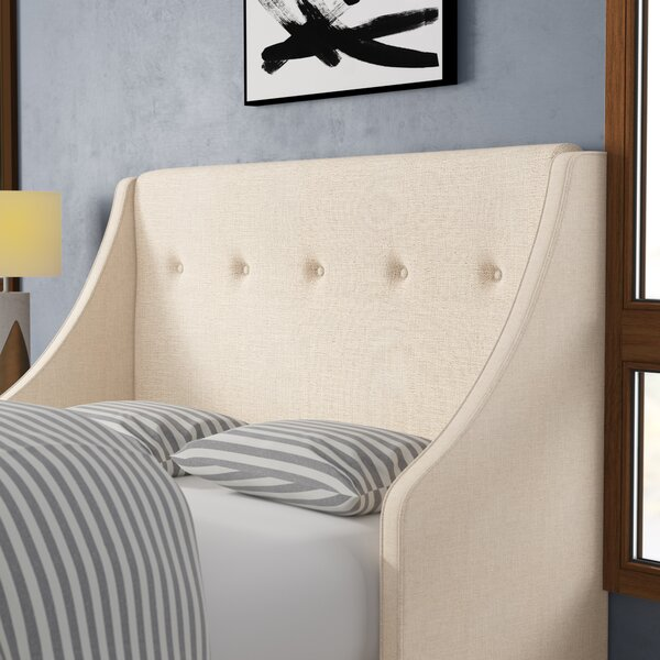 Andy Tufted Upholstered Wingback Headboard by Latitude Run