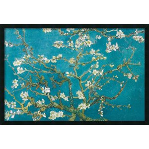 Almond Branches in Bloom, San Remy 1890  by Vincent Van Gogh Framed Painting Print by Amanti Art