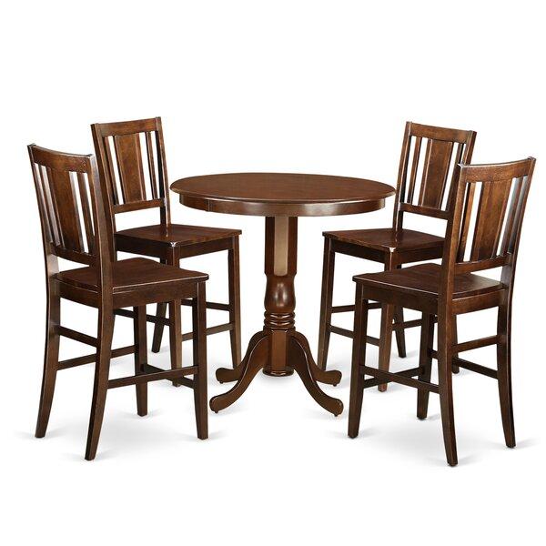Palmateer 5 Piece Pub Table Set