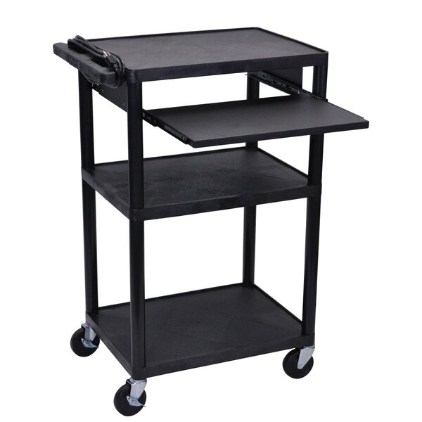 Endura 4 Shelf AV Cart by Offex