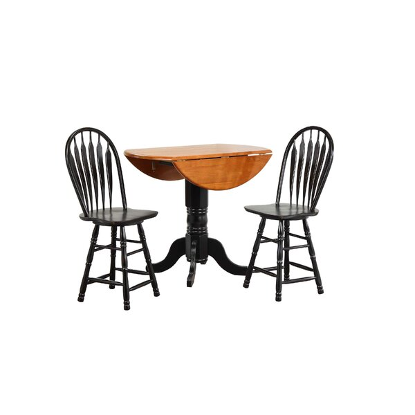 Gonzalez 3 Piece Pub Table Set by Rosalind Wheeler Rosalind Wheeler