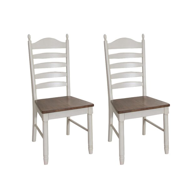 Ruskin Ladder Back Dining Chair (Set of 2) by Rosecliff Heights