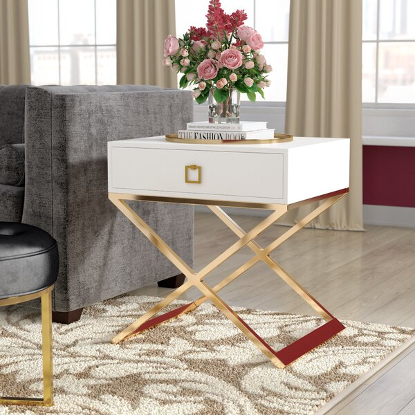 Mallen End Table With Storage By Everly Quinn by Everly Quinn Top Reviews