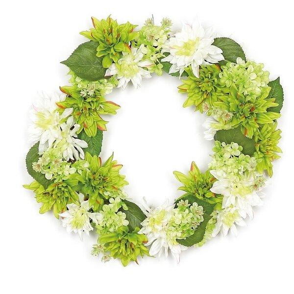 22 Artificial Floral Dahlia and Hydrangea Wreath by Northlight Seasonal