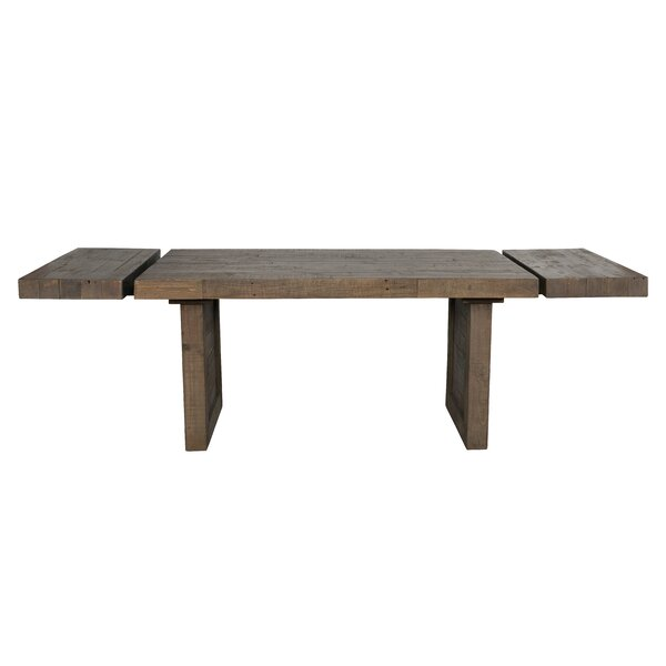 Liesel Extendable Solid Wood Dining Table by Millwood Pines