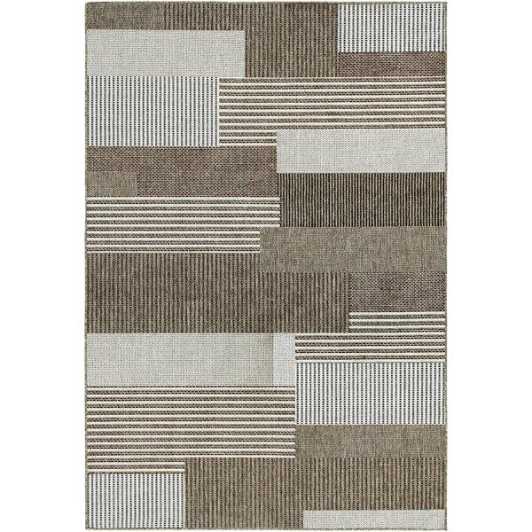 Saldana Brown/Ivory Indoor/Outdoor Area Rug by Zipcode Design