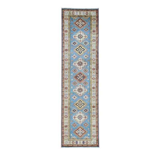 One-of-a-Kind Tilomar Hand-Knotted Sky Blue Area Rug by Millwood Pines