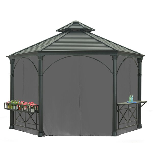 Universal Curtain for Hexagonal Gazebo by Sunjoy