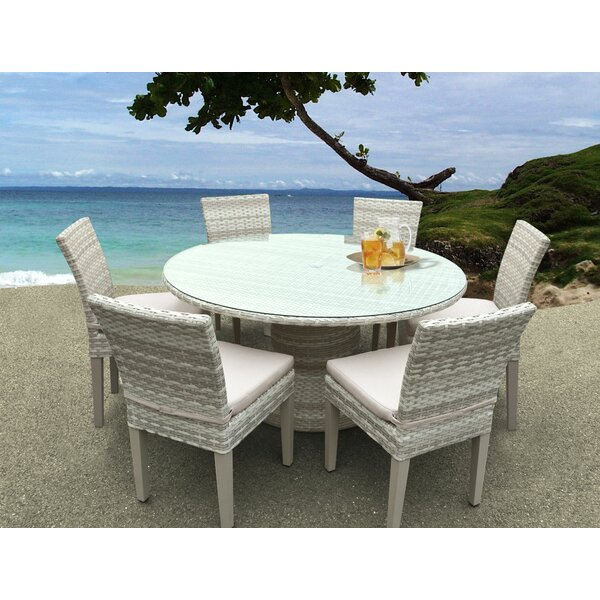 Waterbury 7 Piece Dining Set with Cushions by Sol 72 Outdoor