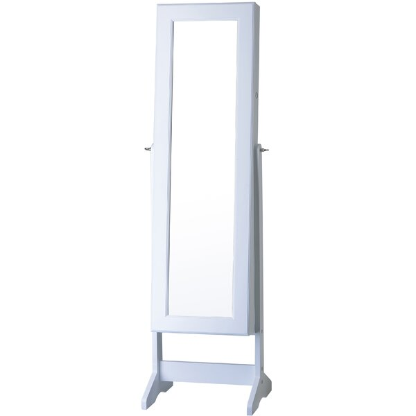 Lorna Free Standing Jewelry Armoire with Mirror by Everly Quinn