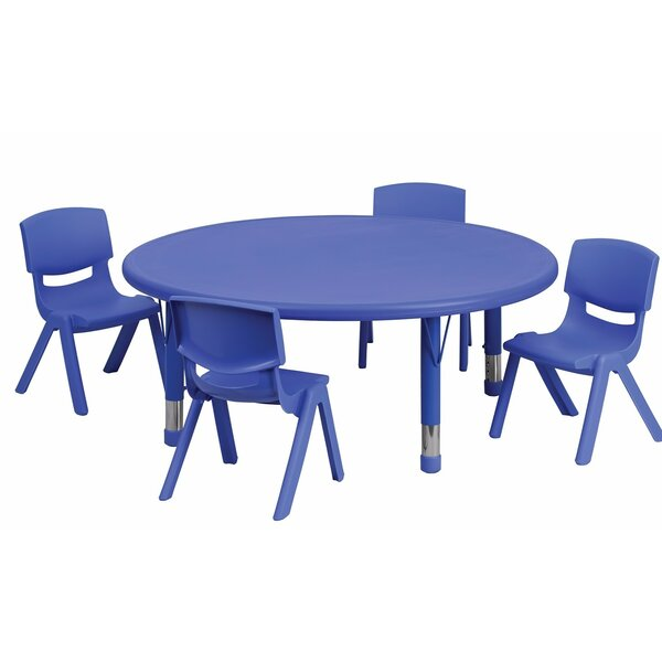 Adjustable 4 Piece Round Activity Table and Chair Set by Offex