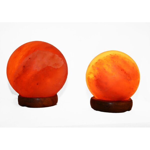 Corniche 5 Himalayan Salt Table Lamp by World Menagerie