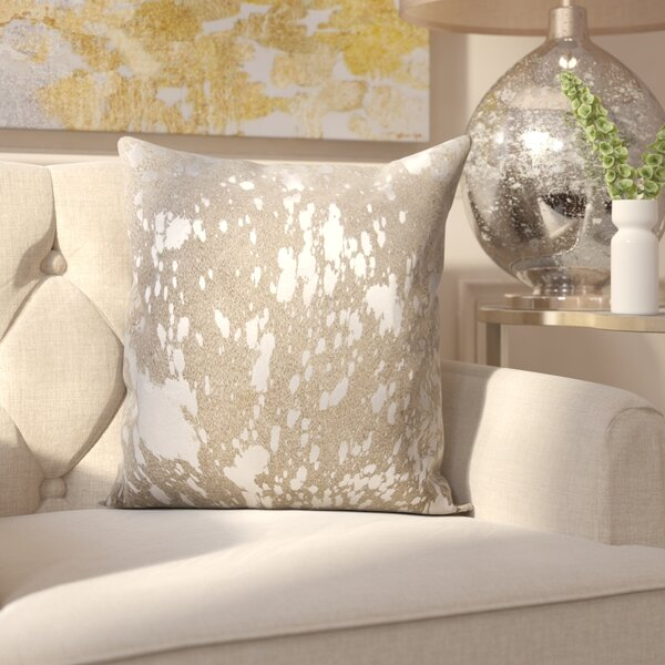 Surrey Leather Throw Pillow by Willa Arlo Interiors
