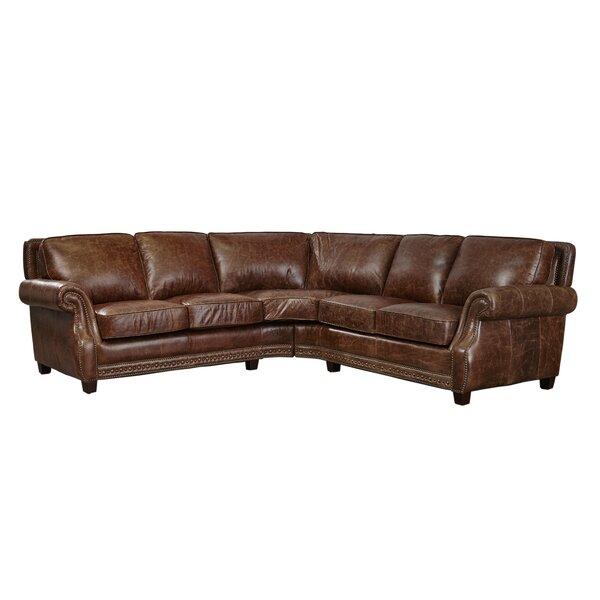 Minor Leather Sectional by Canora Grey