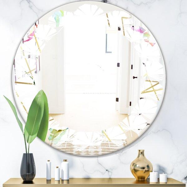 Leaves Flower Modern Wall Mirror