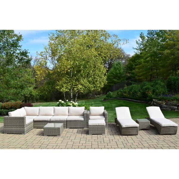 Borneo 11 Piece Sectional Set with Cushions by Oakland Living
