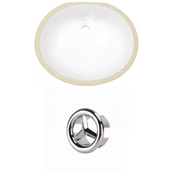 CSA Ceramic Oval Undermount Bathroom Sink with Overflow by Royal Purple Bath Kitchen