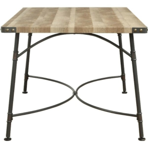 Cammack Industrial Rectangular Solid Wood Dining Table by Williston Forge