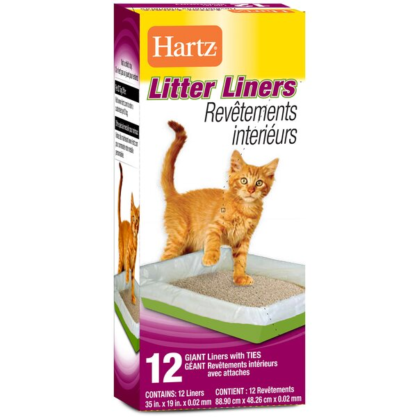 Giant Litter Liners With Ties 12 Count by Hartz
