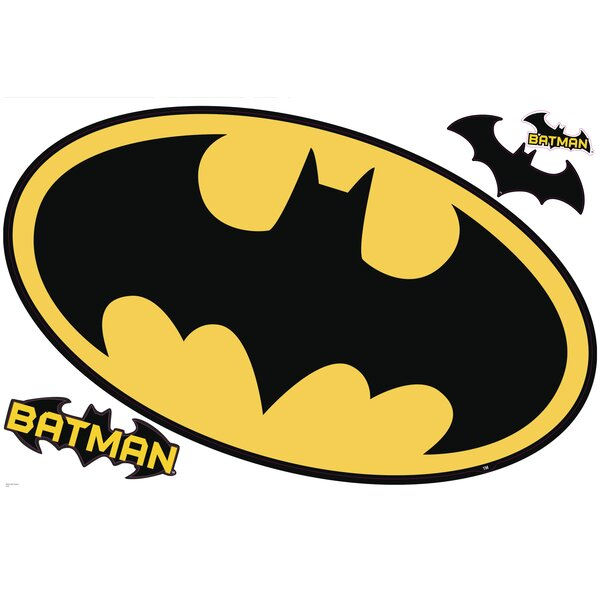Popular Characters Batman Logo Dry Erase Wall Decal by Room Mates